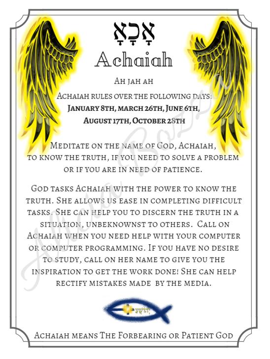 ACHAIAH angle pronunciation
