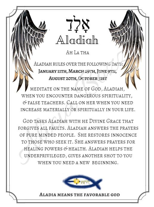 ALADIAH angle pronunciation