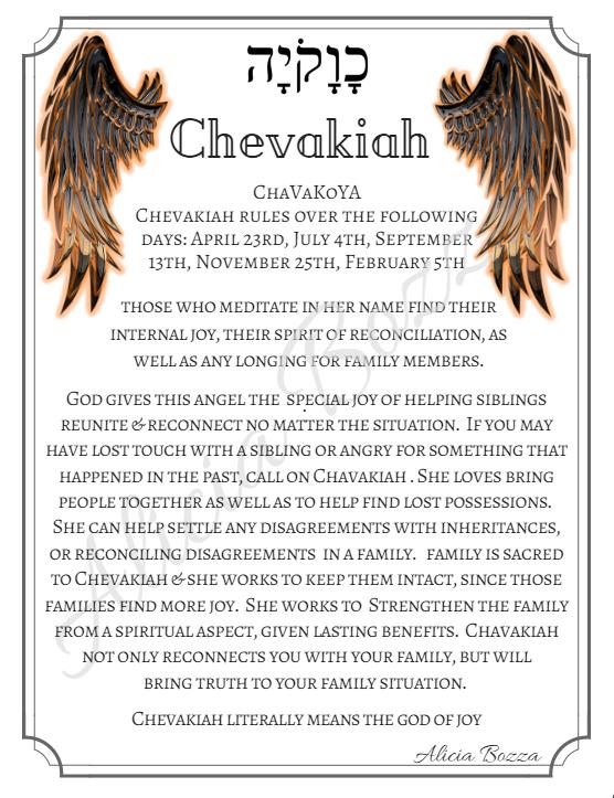 CHEVAKIAH angle pronunciation