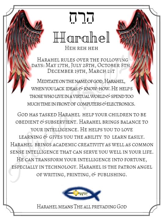 HARAHEL angle pronunciation