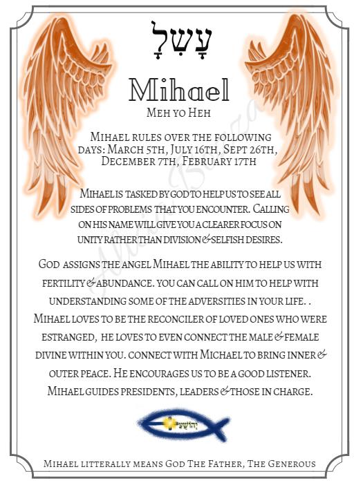 MIHAEL angle pronunciation