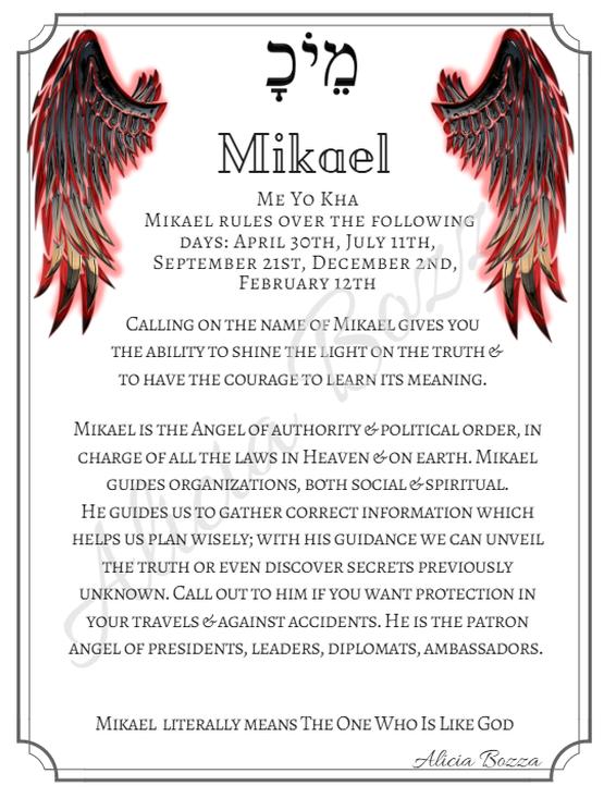 MIKHAEL angle pronunciation