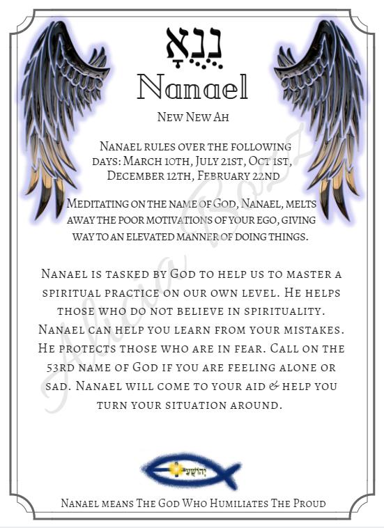 NANAEL angle pronunciation