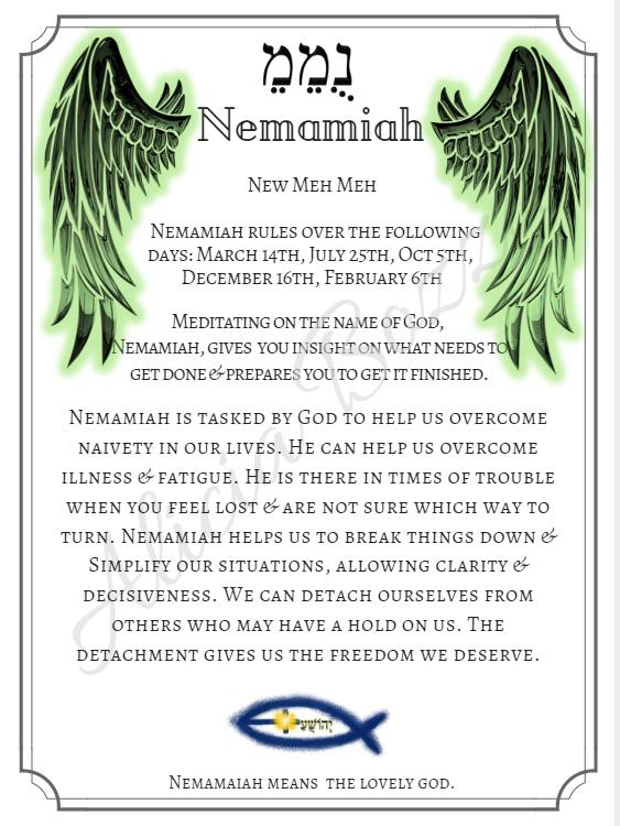 NEMAMIAH angle pronunciation