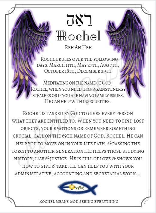 ROCHEL angle pronunciation