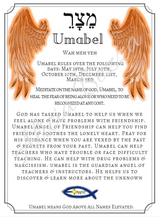 UMABEL angle pronunciation