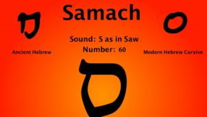 15th Hebrew Letter Samech/samekh Meaning
